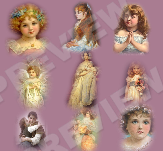 Victorian Children  Set